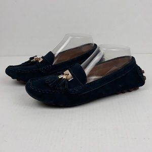 Tory Burch Driving Blue Suede Shoes size 9